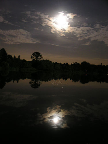 Full moon on Trout Lake.  Foto: Meaduva - Creative Commons Licentie